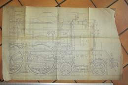 Plan De Locomotive  SNCF Avant 1937 - Machines