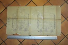 Plan De Wagon  SNCF  Avant 1940 Original - Machines
