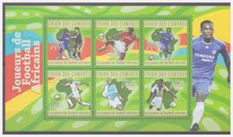 0726 Comores 2010 Voetbal Soccer African Didier Drogba S/S MNH - Afrika Cup