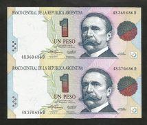 Uncut Banknotes - ARGENTINA - BANCO CENTRAL De La REPUBLICA ARGENTINA - 1 PESO (1992/1994) - Argentina