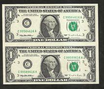 Uncut Banknotes - United States Of America - U.S.A. - 1 DOLLARS - (1995) - Bilglietti Della Riserva Federale (1928-...)
