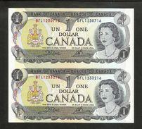 Uncut Banknotes - Banque Du CANADA / Bank Of CANADA - 1 DOLLAR (1973) - Canada