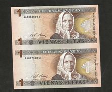 Uncut Banknotes - Lithuania - LIETUVOS BANKAS - LITAS  (1994) - Lituania