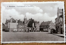 Meulebeke - Goethalsplaats En Standbeeld (huis Dobbelaere) - Meulebeke