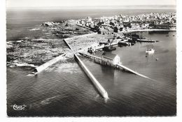 Cpsm: 29 SAINT GUENOLE (ar. Quimper) Instalations Portuaires Et Canot De Sauvetage (Vue Aérienne) 1959  CIM  N° 30420 A - France
