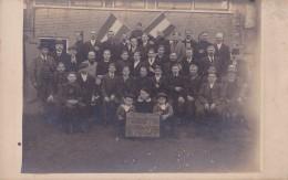 Carte Photo : Les Amis Réunis - Français Hollandais -  GORREDIJK - 10 Novembre 1918 - Belgique