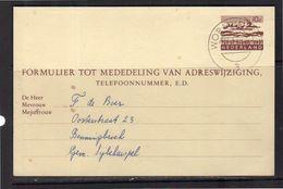 Change Of Address Geuz. # 33 Used WORMERVEER (BX) - Postal Stationery