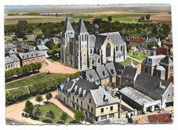 """Cpsm: 27 ECOUIS (ar. Les Andelys) Eglise Et P.T.T. (Vue Aérienne, Garage """"Caltex"""")   N° 13 - France"""