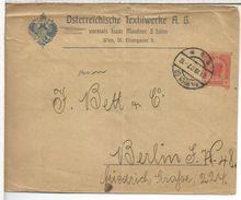 AUSTRIA ENTERO POSTAL STATIONERU WIEN 1907 TEXTIL - Textiles