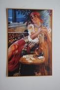 Fortune Teller - OLD VINTAGE PC  Reproduction Postcard - Printed In Russia, 2000s - Playing Cards - Gypsy - Europe