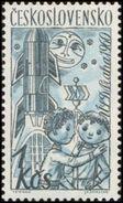 Czechoslovakia / Stamps (1961) 1192: Czech. Puppets (Central Puppet Theater, Prague 1960); Painter: Vojtech Cinybulk - Space