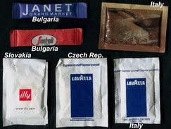 08 PARTIA-Lot MIX (Bulgaria, Slovakia, Czech Rep., Italy) Sugar-Zucker-Sucre-Azucar 6 Pcs Mint - Azúcar