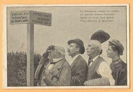 Carte Publicitaire VITTEL Vosges - Grande Source Des Bons Vins - ENTREPOT VINICOLE Henry MALVOISIN - Vin De Ménage . - Alimentaire