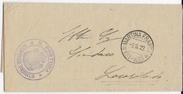 STORIA POSTALE REGNO - ANNULLO FRAZIONARIO MARTINA FRANCA  (LE) 31-68 SU FRANCHIGIA 02.06.1922 - 1900-44 Victor Emmanuel III