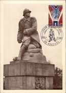 MILITARIA - GUERRE 39-45 - VOUZIERS-CHESTRES - Monument Aux Morts - Carte Philatélique - Guerre 1914-18