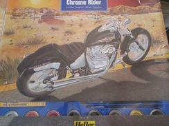Kit314  MOTO MAQUETTE PLASTIQUE ECHELLE 1/12e HELLER CHROME RIDER  , Complète Et Non Commencée , 140 Pièces Avec 1 Pince - Motorcycles