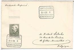 HOLANDA 1939 SCHEVENNINGEN  CBPTT CONGRESS - Periodo 1891 – 1948 (Wilhelmina)