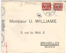 HOLANDA 1941 AXEL CC A BRUXELLES CON CENSURA ALEMANA GERMAN CENSOR - Periodo 1891 – 1948 (Wilhelmina)