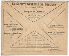 BELGICA CC FRANQUICIA CHEQUES POSTALES PUBLICIDAD SOCIETE GENERALE BANQUE BANK BANCO SAVINGS - Bélgica