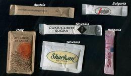 18 PARTIA-Lot MIX (Italy, Austria, Bulgaria, Slovakia) Sugar-Zucker-Sucre-Azucar 6 Pcs Mint - Azúcar