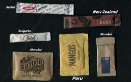 23 PARTIA-Lot MIX (Italy, Bulgaria, Slovakia,  Peru, Serbia, New Zealand) Sugar-Zucker-Sucre-Azucar 6 Pcs Mint - Sugars