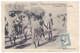Cpa Djibouti - Scène D'un Mariage Somalis ( Transport De La Dot ) - Djibouti