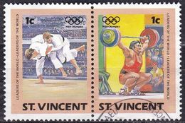 St. Vincent, 1984 - 1c Summer Olympics, Coppia - Nr.765a/765b Usato° - St.Vincent (1979-...)