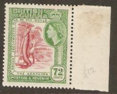 British Guiana 1954 342 72c Unmounted Mint External Mount On Wing Margin - British Guiana (...-1966)