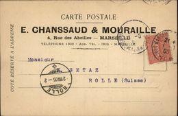 13 - MARSEILLE - Carte De Correspondance - Maison Chanssaud & Mouraille - 1877-1920: Période Semi Moderne