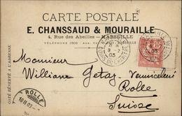 13 - MARSEILLE - Carte De Correspondance - Maison Chanssaud & Mouraille - Marcophilie (Lettres)