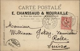 13 - MARSEILLE - Carte De Correspondance - Maison Chanssaud & Mouraille - Marcofilia (sobres)