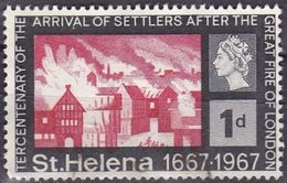 St. Helena, 1967 - 1p The Great Fire Of London - Nr.197 Usato° - Isola Di Sant'Elena