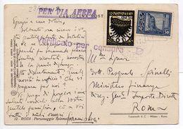 - ITALIE / RODI - CARTOLINA POSTALE CENSUREE RODI Pour ROMA 23.9.1941 - A ETUDIER - - Egée (Rodi)