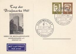 PP 25  Tag Der Briefmarke 1961 - Verein Für Briefmarkenkunde Wihalmshaven (Luftpost) - BRD