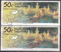 Sud Africa, 1995 - 50c Lost City, Coppia - Nr.898 Usato° - Usati