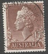 Australia. 1955-7 QEII Definitives. 1/7 Used. SG 282d - 1952-65 Elizabeth II : Pre-Decimals
