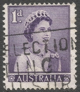 Australia. 1959-63 QEII Definitives. 1d Deep Slate Lilac Used. SG 308a - 1952-65 Elizabeth II : Pre-Decimals