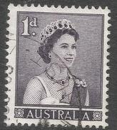 Australia. 1959-63 QEII Definitives. 1d Deep Slate Purple Used. SG 308 - 1952-65 Elizabeth II : Pre-Decimals