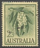 Australia. 1959-64 Definitives. 2/3 Green On Maize Used. SG 324 - 1952-65 Elizabeth II : Pre-Decimals