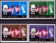 ST HELENA 1966 SG #201-04 Compl.set MLH/Used Churchill - Saint Helena Island