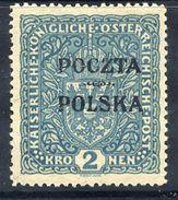 POLAND 1919 Krakow Poczta Polska.overprint On 2 Kr. Arms.  LHM / *.  Michel  44a - 1919-1939 Republic