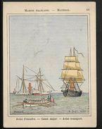 Aviso D'escadre Marine Française - Chromo Image 10,5X13,5 Cm Env Signée  P. Jazet 1885 - Illustrateur - Otros
