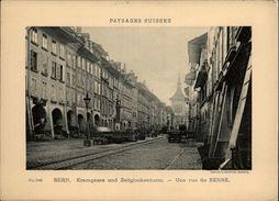 SUISSE - BERN - Kramgasse Und Zeitglockenturm - Paysages Suisses Sur Carton - Vieux Papiers