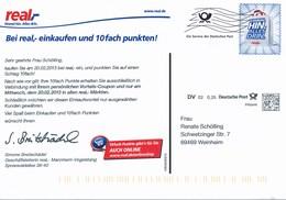 BRD Mannheim Infopost DV 0,25 € 2013 Real Einkaufsmarkt - Covers