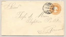 Mexico - 1903 - 5 Cents Envelope Sent From Sucursal - Mexico
