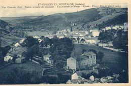 CPA - SAINT-CIRGUES-en-MONTAGNE (07) - Aspect Du Bourg Dans Les Années 20 - Andere Gemeenten