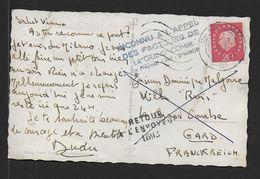 Gard - Cachet  RETOUR A L' ENVOYEUR  1693  De La Grand Combe + Inconnu à L' Appel.......... - Postmark Collection (Covers)