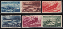 1938   EDIFIL Nº 775 / 780  / * /  , Correo  Submarino Serie Completa , - 1931-Hoy: 2ª República - ... Juan Carlos I