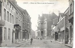 CPA / AK / PK   -  CINEY  Hôtel De Ville Et Rue Du Commerce - Ciney