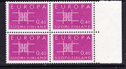 Europa Cept 1963 Finland 1v Bl Of 4  ** Mnh (CO326) - Europa-CEPT